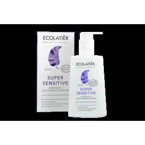 Čistící krémový gel na intimní hygienu s pH 4,7 - Super Sensitive - EcoLatier Organic - 250 ml