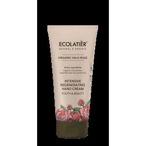 Intenzivní regenerační krém na ruce - Divoká růže - Mládí a krása - EcoLatier Organic - 100 ml